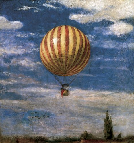 The Balloon, 1878 Art Print by Pal Szinyei Merse at King & McGaw