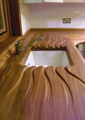 Carved draining board
