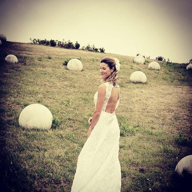 Bruden på fotoshoot