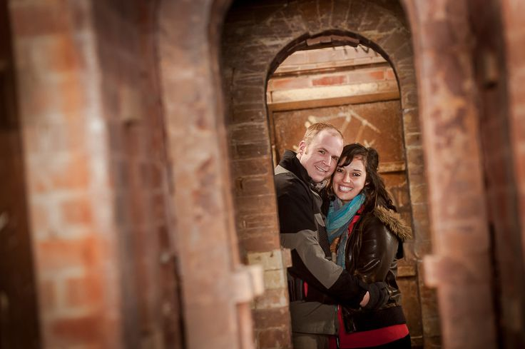 toronto evergreen brickworks engagement pictures
