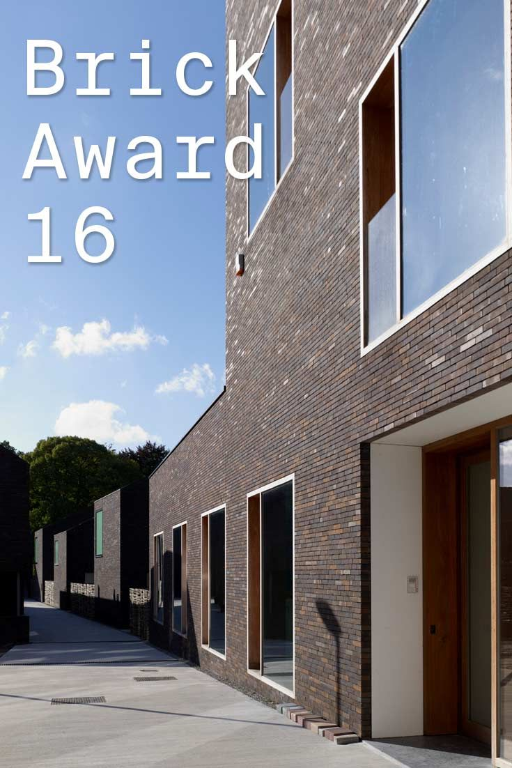 #WienerbergerBrickAward 2016 nominee 35: Groen Steenbrugge, Belgium by Architecten Groep III cvba, Belgium. The architect only used clear and pure materials like bricks and roof tiles of the same colour. This way, the dark brown buildings perfectly blend in with the green surroundings.   Photographer: Architecten Groep III
