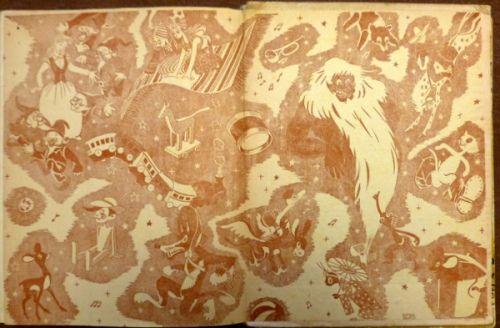 Capa de Guarda de A Flor Azul (1955) de Ilse Losa Ilustração de Fernando Bento http://e-cultura.blogs.sapo.pt/91278.html