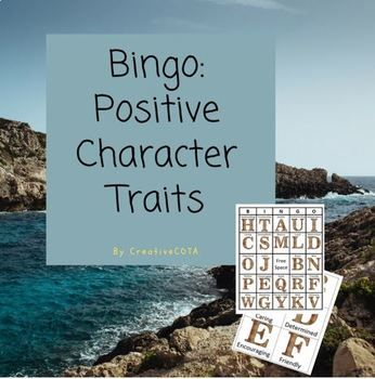 Included in this download are 8 Positive Character Traits Bingo boards, as well as, a blank 5 by 5 and 4 by 4 template.  For classroom use or to add a fine motor component, have students use a full board to cut and paste and make their own board on a blank template.