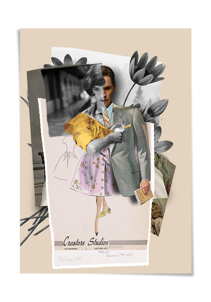 The Danish Girl movie's collage and poster project.