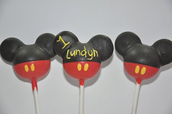 Personalized cake pops Mickey Mouse