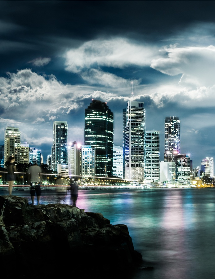 Fishing in the Brisbane River by Grant Kennedy, via 500px