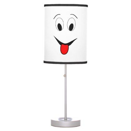 Funny face - black and red. desk lamp - home gifts ideas decor special unique custom individual customized individualized