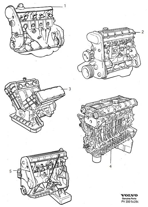 Engines replacement engines Volvo 940