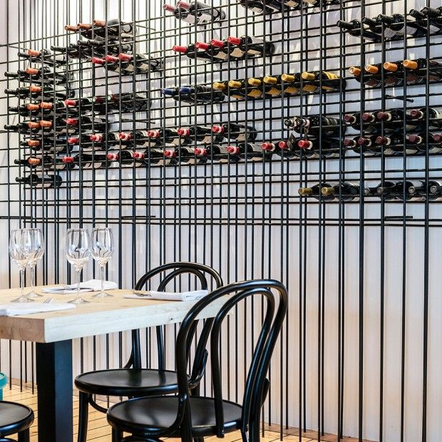 reinforce steel rod wine storage. MAR RESTAURANT REYKJAVIK BY HAFSTEINN JULIUSSON AND KARITAS SVEINSDÓTTIR