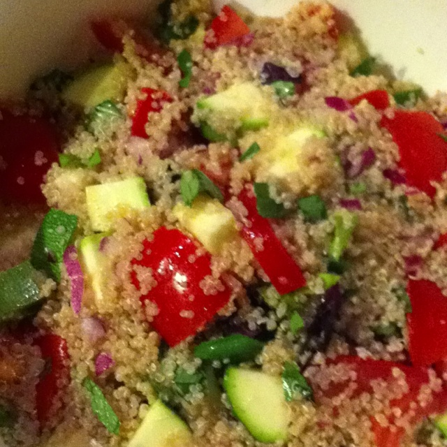 """Millet """"Couscous"""" Salad from Kimberly Snyder's book """"The Beauty Detox Solution"""""""