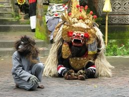 Batubulan in Gianyar, Bali - Batubulan has been famous in Indonesia and all over of the world which has been built based on an artistic blessing dance of Barong and Keris dance