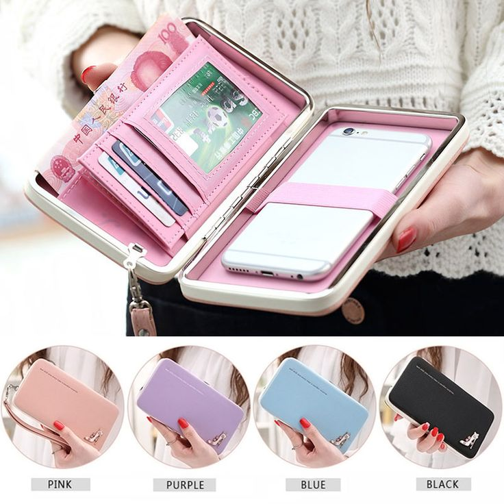 Lovely Lady Wallets Women Long Wallets Purses Clutch Bags Phone Case For Phone 6 Plus Lady Cute Coin Purse Popular
