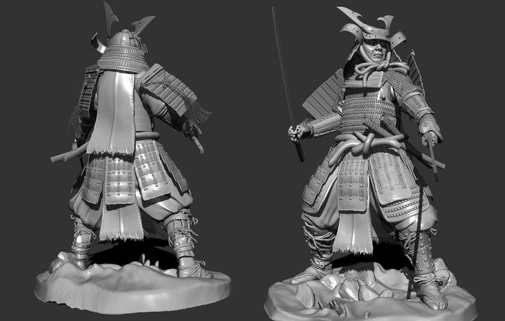 http://hbajramovic.cgsociety.org/art/samurai-3ds-max-warrior-zbrush-sculpt-tutorial-3d-1120740