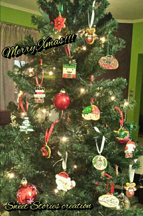 Check out this item in my Etsy shop https://www.etsy.com/listing/213965928/christmas-tree-ornaments-xmas-cookie