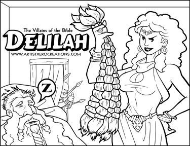the villains of the bible delilah - Samson Delilah Coloring Pages