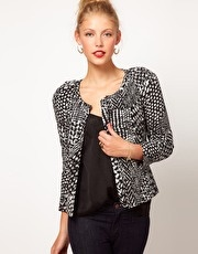 ASOS Printed Jacket With Statement Shoulder  www.asos.com