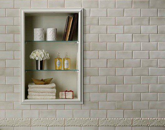 Доброе утро, друзья ☀ Желаем легкого первого рабочего дня и успешной недели, а мы всегда с Вами и уже радуем новыми идеями! Внимание к деталям: оформление ниши в душе  #сантехника #ванная #плитка #интерьер #стиль #дизайн