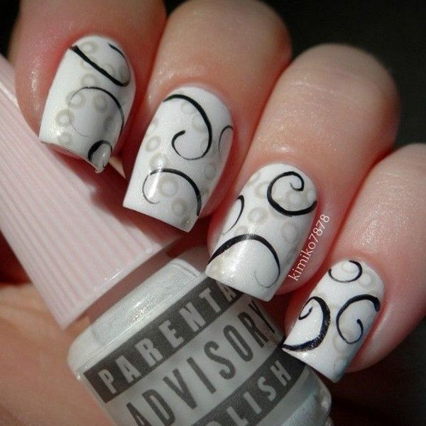 10 Cute And Creative Swirl Nail Art Page Of Beautycross Short Nails In 2018 Designs
