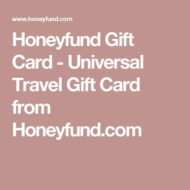 Honeyfund Gift Card - Universal Travel Gift Card from Honeyfund.com