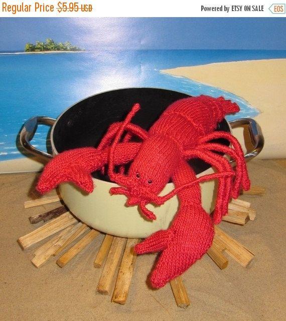 HALF PRICE SALE madmonkeyknits Lottie Lobster Crustacean Toy pdf knitting pattern