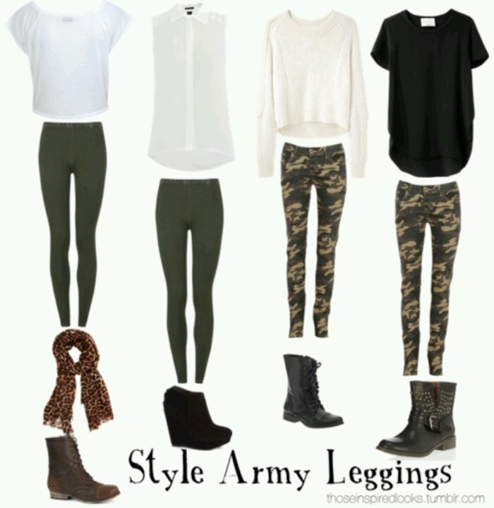 Army leggings outfits