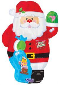 """Noel Baba, Şekilli Folyo Balon Folyo Balon - Folyo Balon 18""""/45cm ebatında folyo Balon. Şişirilmeden teslim edilir.  Parti balonlarınızı uçan balon olarak Parti Paketi mağazalarında helyum gazı ile şişirtebilir; ya da balon çubuğu, balon pompası ve balon rafyası alarak kendiniz hava ile şişirip parti mekanınızı süsleyebilirsiniz. Parti süslemesi için ideal!"""
