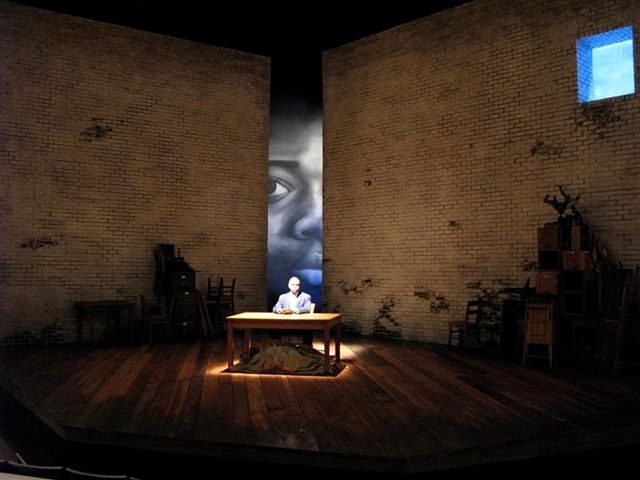 A Lesson Before Dying, TONY CISEK scenic design. I adore this show. Can't find a theatre in NWI interested in producing it yet. Great scenic idea for a psychological drama.
