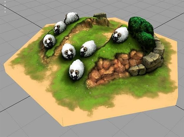 Catan_sheep_hexagon by tedparsec'