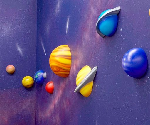 keep our neighboring planets within your reach when you decorate the kids room with the captivating