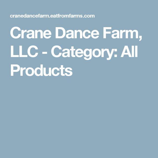 Crane Dance Farm, LLC - Category: All Products