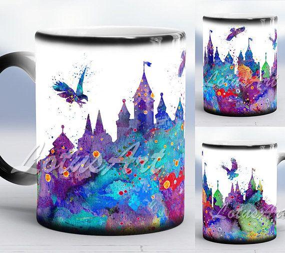 Castle Color Changing Mug Castle Watercolor Magic Mug Castle Art