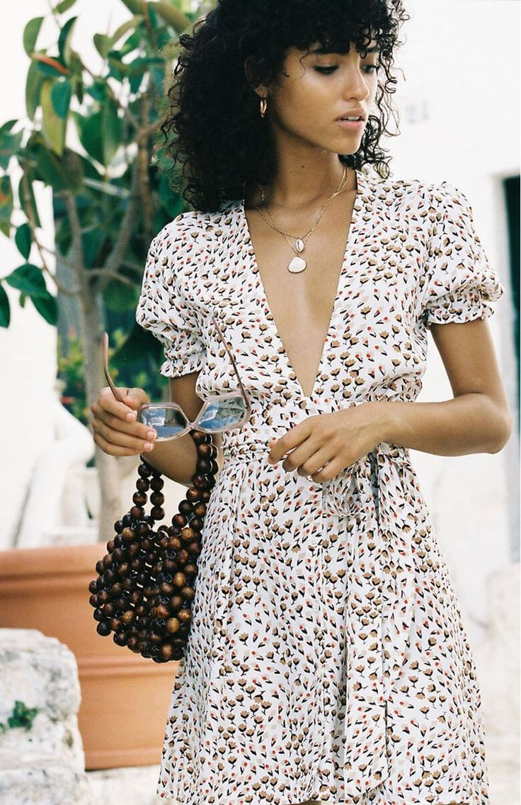 Straps Short Floral Summer Dress With Pockets Floral Dress Casual Floral Dress Outfits Mini Dress [ 1136 x 736 Pixel ]