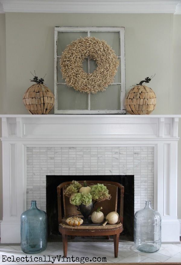 Creative Fall Decorating Ideas Home Tour Mantels Chairs And Decorating Ideas