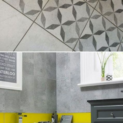 HD concrete feature floor also matching wall tiles available @ waterhouse tiles Dublin