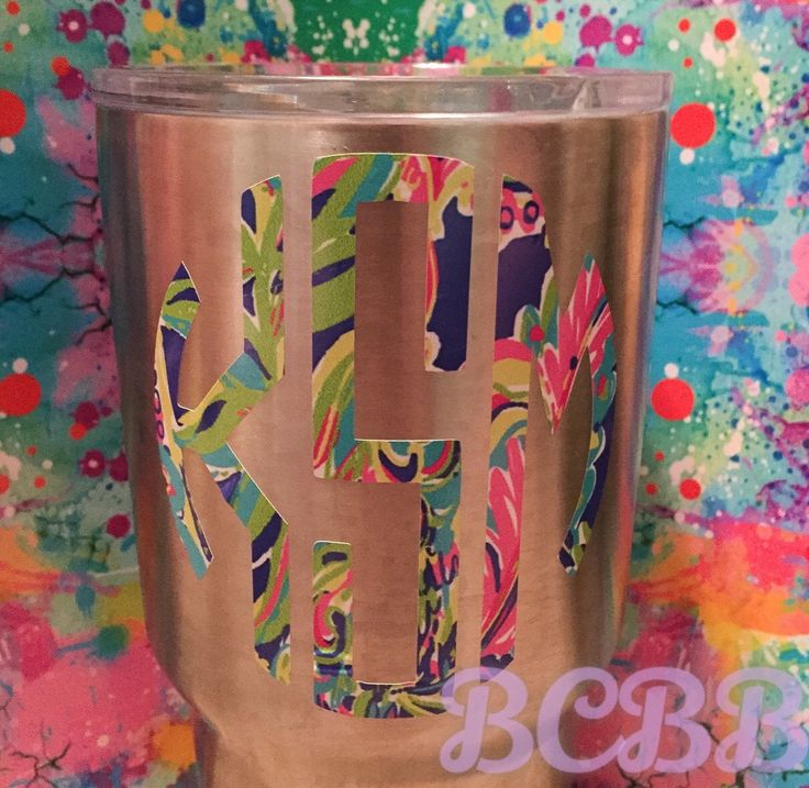 A personal favorite from my Etsy shop https://www.etsy.com/listing/474075717/monogram-vinyl-decal-initials-tumbler #monogram #personalized #love #want #need #tumblers #bridesmaids #sorority #sororities #lilyinspired #etsy #gifts