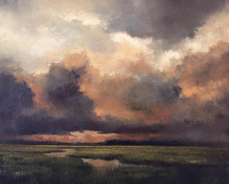 "Mark Kelvin Horton - ""Approaching Storm"", 8x10, oil on ..."