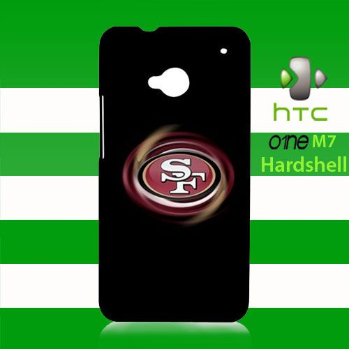 San Francisco 49ers Logo HTC One M7 Case Cover Hardshell