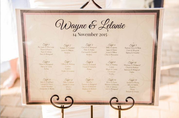 Monte Vista Venue table allocations for a pink and brown wedding