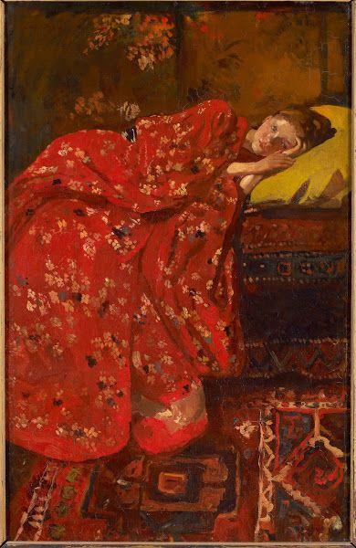 George Hendrik Breitner, Meisje in rode kimono (Geesje Kwak), 1895−1896. Olieverf op doek, 82 x 52,5 cm. Gemeentemuseum, Den Haag