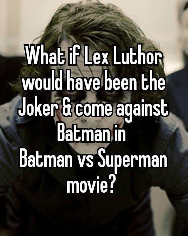 Because Batman hates Clown!  #WhatIf Lex Luthor would have been the Joker & come against Batman in Batman vs Superman movie?  #bvs #batman #superman #joker #if  #batmanvssuperman #lexluthor #facts  #batmanfacts #supermanfacts #trick  #whatwouldhappen #dccomics #bat  #gothamcity #bvsfacts #dcfacts #twist  #l4l #f4f #bvstwist #batmanhatesjoker  @worldsbestboy