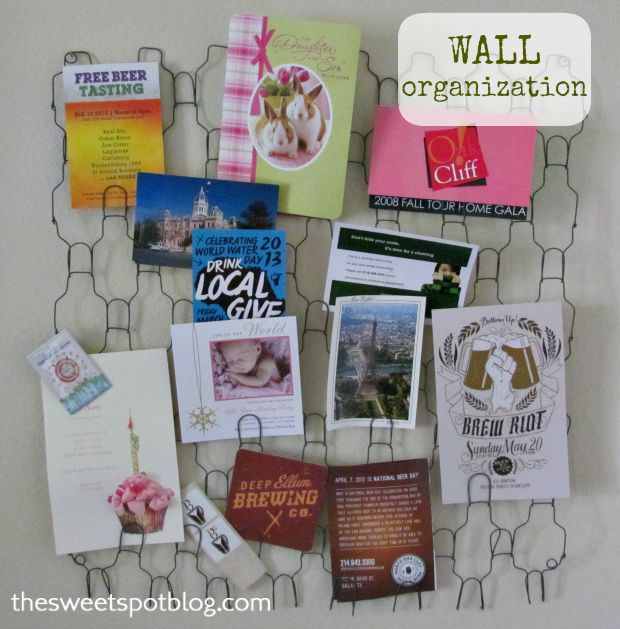 Wall Organization by The Sweet Spot Blog http://thesweetspotblog.com/wall-organization/ #wall #organization #office