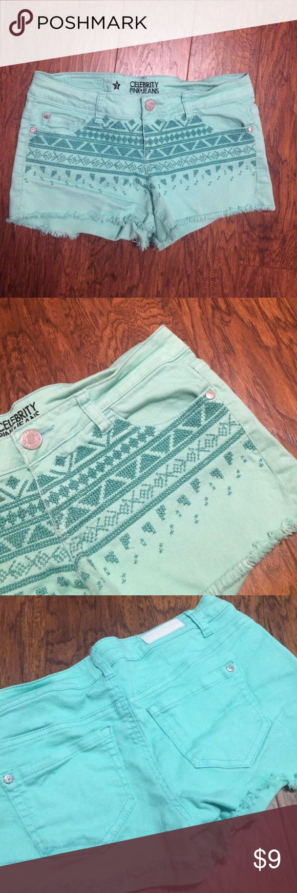 Mint shorts Great condition. Size 3 Celebrity Pink Shorts Jean Shorts