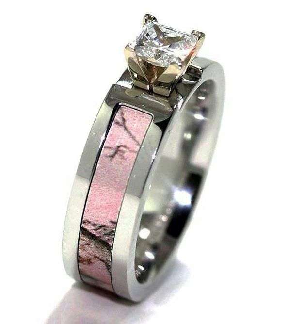 Pink Camo Wedding Ring Sets | For Whom Pink Camo Wedding Rings Are