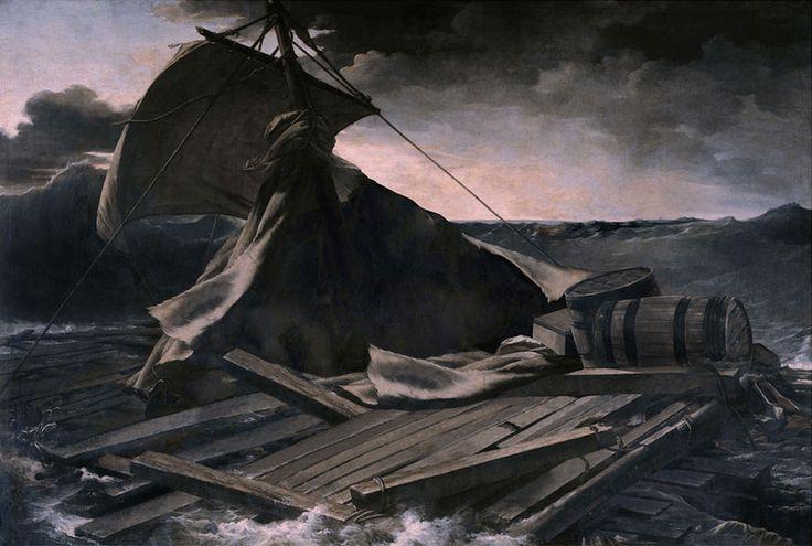 Des classiques de la peinture sans personnages par José Manuel Ballester   classiques de la peinture sans personnages Jose Manuel Ballester 2 radeau de la meduse 2