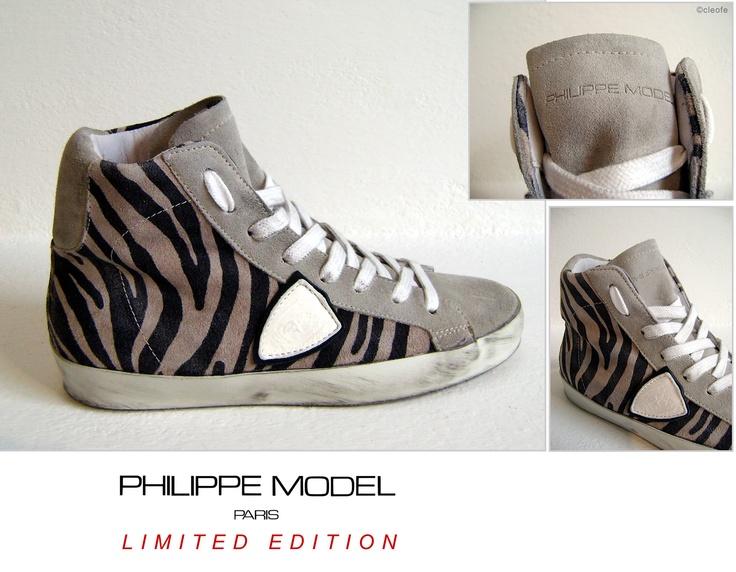 Scarpe Sneakers PHILIPPE MODEL - Modello LENS Donna Col. Animalier Sabbia Black  COLLEZIONE . Autunno Inverno 2012  Nuovissima variante Lens Animalier Black!