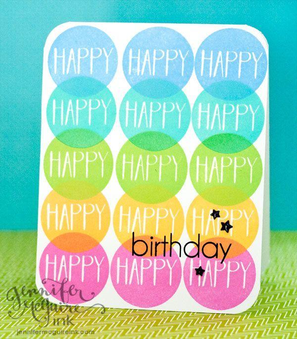 Colorful Birthday | Jennifer McGuire Ink | Bloglovin'