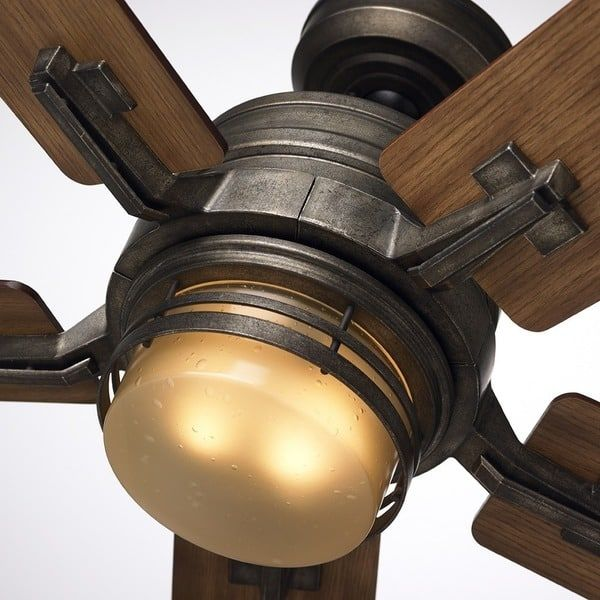 Emerson Amhurst 54-inch Vintage Steel Transitional Ceiling Fan with Reversible Blades - Silver