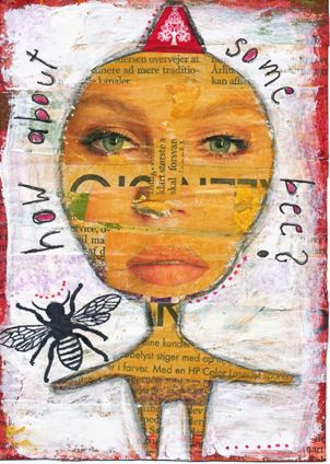 How about some bee? Mixed Media auf Papier