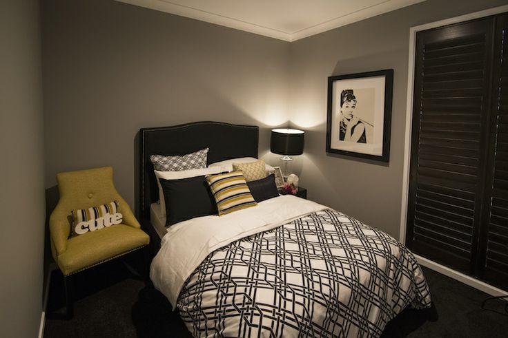 Bedroom in a modern urban theme