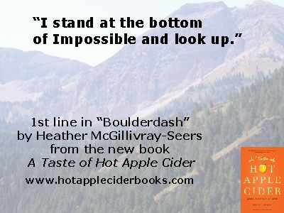 Some mountains must be dismantled one stone at a time. A poem from A Taste of Hot Apple Cider. http://thatslifecommunications.com/books/a-taste-of-hot-apple-cider/